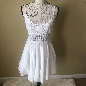 White swim coverup dress